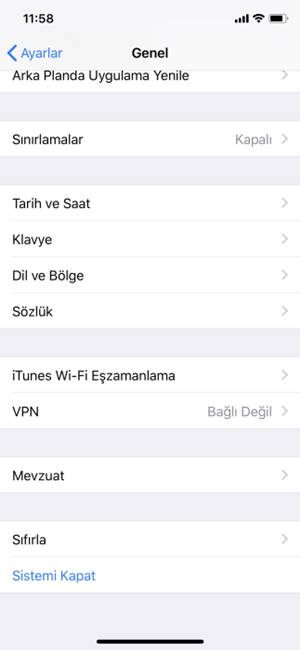 iPhone X Fabrika Ayarlarına Döndürme