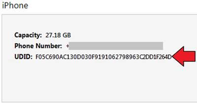 iPhone X UDID Numarası