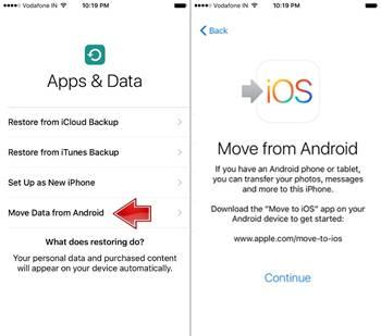 Android Telefondan iPhone X'e Veri Aktarma