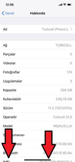 iPhone X IMEI Kodu Öğrenme