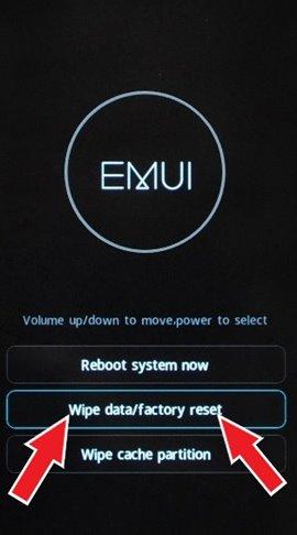 Huawei format atma