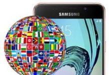 Samsung Galaxy A3 2016 dil değiştirme
