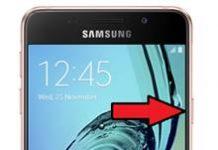 Samsung Galaxy A3 2016 ekran görüntüsü alma