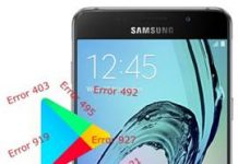 Samsung Galaxy A5 2016 Play Store hataları