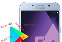 Samsung Galaxy A5 2017 Play Store hataları