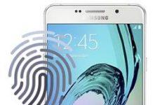 Samsung Galaxy A7 2016 Parmak İzi Ekleme