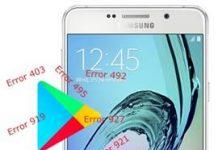 Samsung Galaxy A7 2016 Play Store hataları