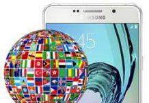 Samsung Galaxy A7 2016 dil değiştirme