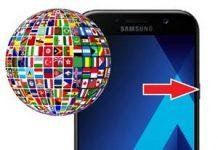 Samsung Galaxy A7 2017 Dil Değiştirme