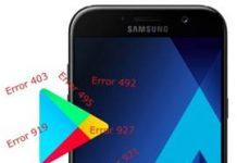 Samsung Galaxy A7 2017 Play Store hataları