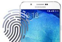 Samsung Galaxy A8 2015 parmak izi ekleme