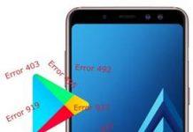 Samsung Galaxy A8 2018 Play Store hataları