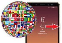 Samsung Galaxy A8 Plus 2018 Dil Değiştirme