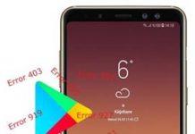 Samsung Galaxy A8 Plus 2018 Play Store hataları