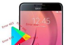 Samsung Galaxy C7 Play Store hataları