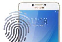Samsung Galaxy C7 Pro parmak izi ekleme