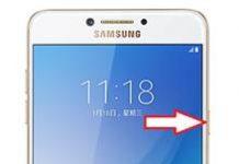 Samsung Galaxy C7 Pro ekran görüntüsü alma