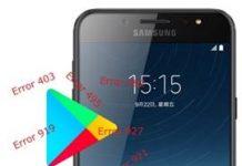 Samsung Galaxy C8 Play Store hataları