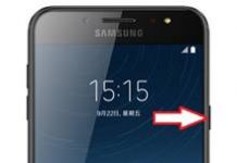 Samsung Galaxy C8 ekran görüntüsü alma