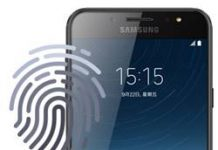 Samsung Galaxy C8 parmak izi ekleme