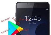 Samsung Galaxy C9 Pro Play Store hataları