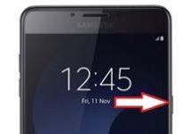 Samsung Galaxy C9 Pro ekran görüntüsü alma