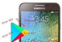 Samsung Galaxy E5 Play Store hataları