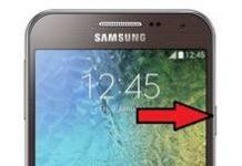 Samsung Galaxy E5 ekran görüntüsü alma