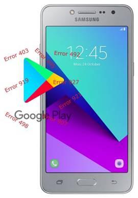 Samsung Galaxy J2 Prime Play Store hataları