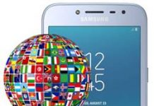 Samsung Galaxy J2 Pro 2018 dil değiştirme