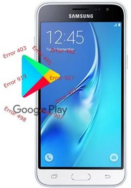 Samsung Galaxy J3 2016 Play Store hataları