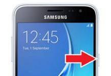 Samsung Galaxy J3 2016 ekran görüntüsü alma