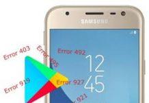 Samsung Galaxy J3 2017 Play Store hataları