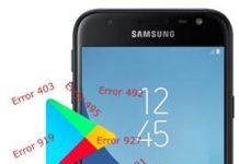 Samsung Galaxy J3 Pro 2017 Play Store hataları