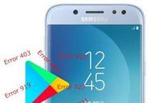 Samsung Galaxy J5 2017 Play Store hataları