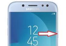 Samsung Galaxy J5 2017 ekran görüntüsü alma
