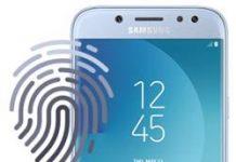 Samsung Galaxy J5 2017 parmak izi ekleme