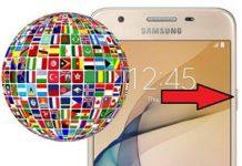 Samsung Galaxy J5 Prime Dil Değiştirme