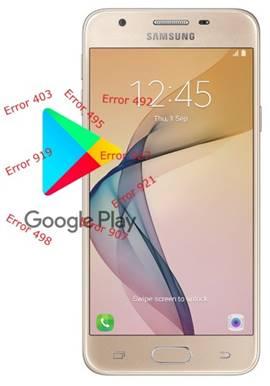 Samsung Galaxy J5 Prime Play Store hataları