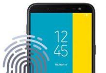 Samsung Galaxy J6 parmak izi ekleme