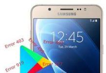 Samsung Galaxy J7 2016 Play Store hataları