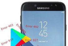 Samsung Galaxy J7 2017 Play Store hataları