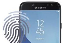 Samsung Galaxy J7 2017 parmak izi ekleme