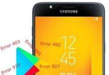 Samsung Galaxy J7 Duo Play Store hataları