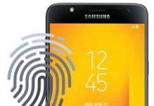 Samsung Galaxy J7 Duo parmak izi ekleme
