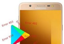 Samsung Galaxy J7 Max Play Store hataları