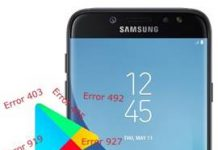 Samsung Galaxy J7 Pro Play Store hataları