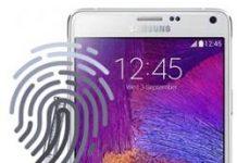 Samsung Galaxy Note 4 parmak izi ekleme