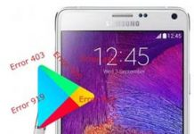 Samsung Galaxy Note 4 Play Store hataları