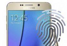 Samsung Galaxy Note 5 parmak izi ekleme